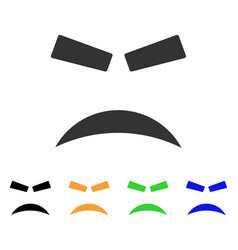 furious smile icon vector image vector image