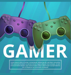 Gamer concept background cartoon style vector