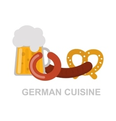 German food vector image