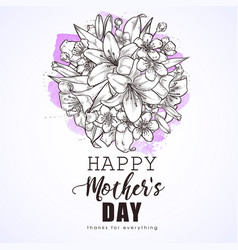 greeting card to mothers day vector image