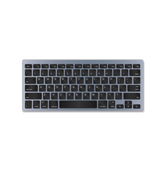 grey plastic keyboard with black buttons vector image