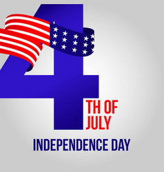 happy usa independent day template design vector image