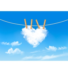 Heart shaped cloud on rope nature beautiful vector