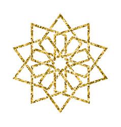 Islamic golden pattern vector