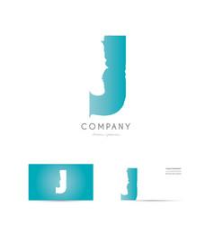 j blue letter alphabet logo icon design vector image vector image