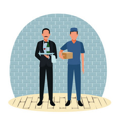 Jobs and professional workers vector