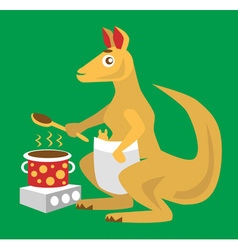 Kangaroo chef vector