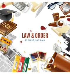 Law And Order Frame Composition Poster vector
