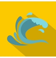 Little wave icon cartoon style vector