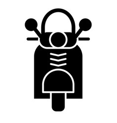 Motorbike solid icon motorcycle vector