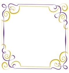 Multilayer violet yellow elegant frame vector