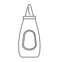 mustard bottle icon outline style vector image