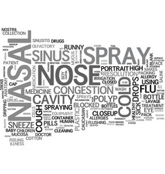 Nasal word cloud concept vector