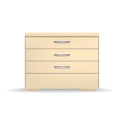 nightstand mockup realistic style vector image
