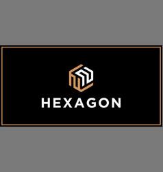 Nn hexagon logo design inspiration vector