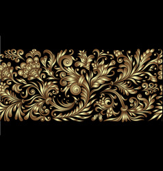 Ornate seamless border in eastern style vector