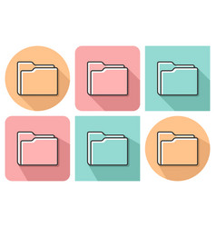 outlined icon of folder with parallel and not vector image