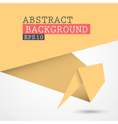 Paper origami background vector image