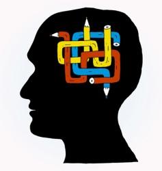 Pencil brain vector