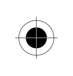 print marker or crosshair sign icon target aim vector image
