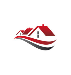 Private cottages real estate buildings logo vector