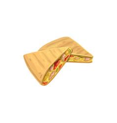quesadilla fast food menu snacks sandwiches icon vector image