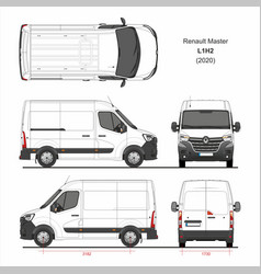 Renault master cargo delivery van l1h2 2020 vector