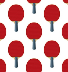 Seamless Pattern Table Tennis Rackets vector