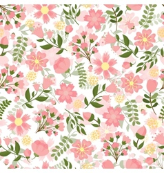 Seamless spring floral background vector