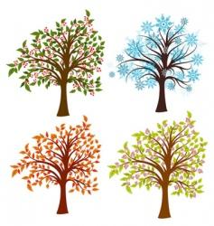 seasons trees vector image