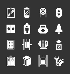 Set icons elevator and lift vector