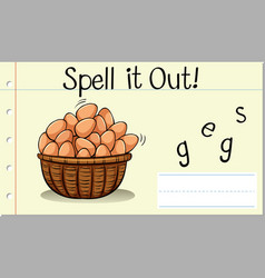 Spell it out eggs vector