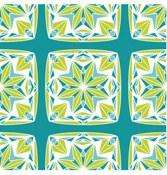 Star block quilt chartreuse teal seamless vector