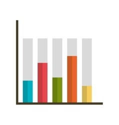 Statistics graphic isolated iflat con vector image