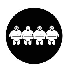 sumo wrestling people icon vector image