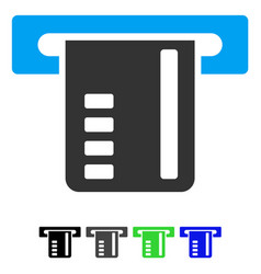 Ticket terminal flat icon vector