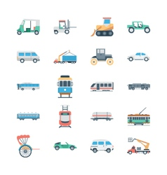 Transports Colored Icons 3 vector