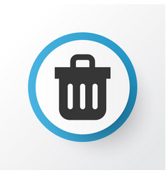 Trash can icon symbol premium quality isolated vector