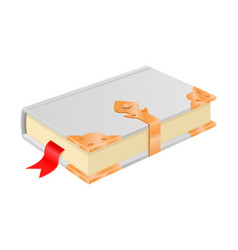 white book with golden corners and safe lock vector image