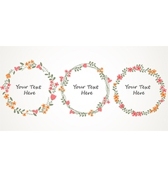 Autumn Floral Frame Collections vector image vector image