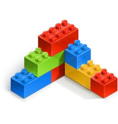 brick wall meccano toy vector image