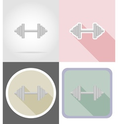 fitness flat icons 01 vector image