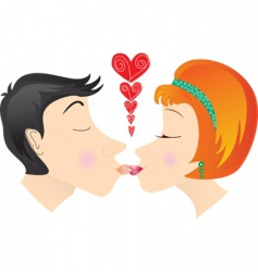kiss lovers vector image vector image