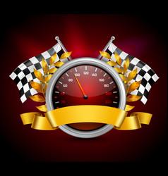 Race Emblem Realistic vector image