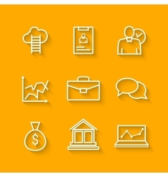 Set of line icons of business people organization vector image