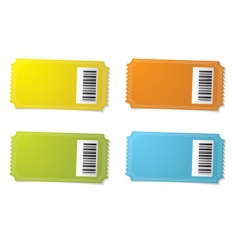 ticket stub barcode vector image