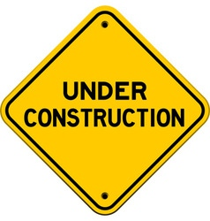 Under construction yellow sign vector