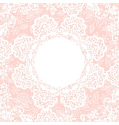 white lace on pink background vector image vector image
