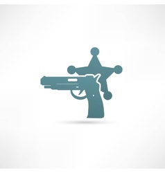 isolated modern police icon vector image vector image