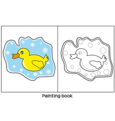 Painting book vector image